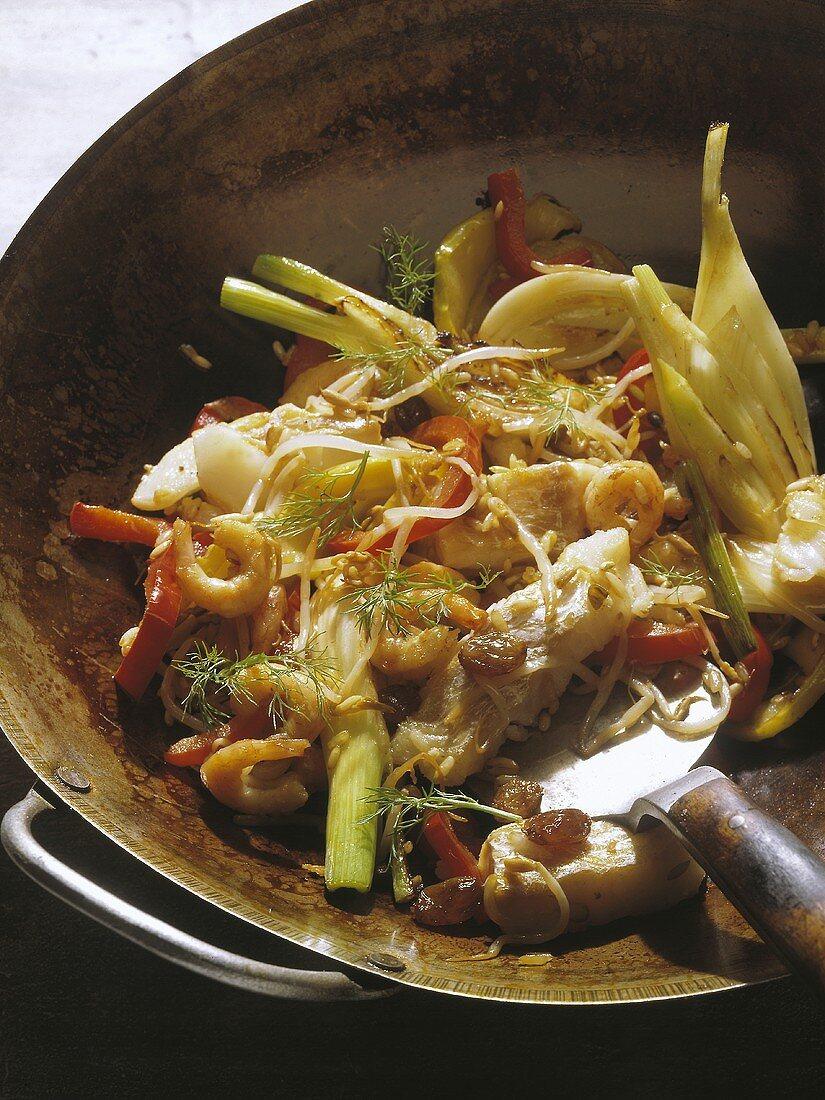 Far Eastern Fish-Rice Pan Dish