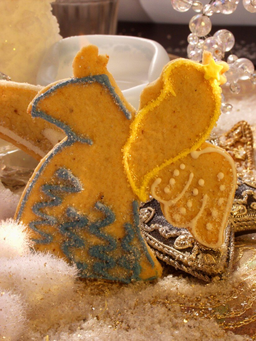 Sweet pastry angel with sugar decoration
