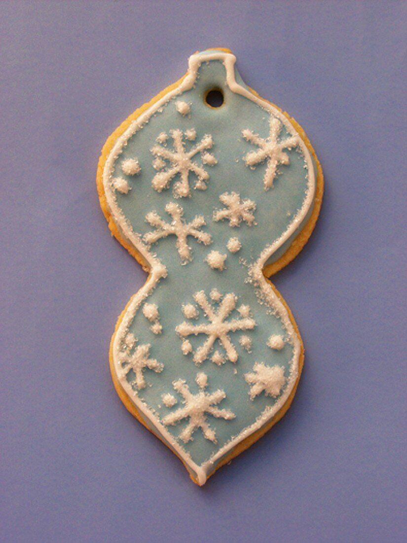 Decorated sweet pastry biscuit as tree ornament
