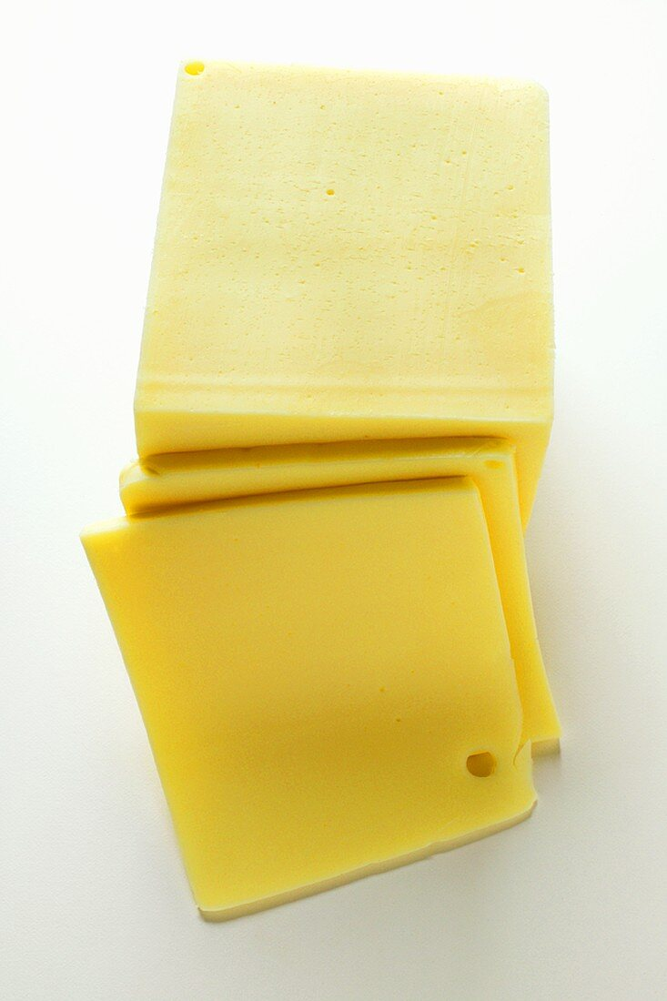 American cheese, a piece cut off