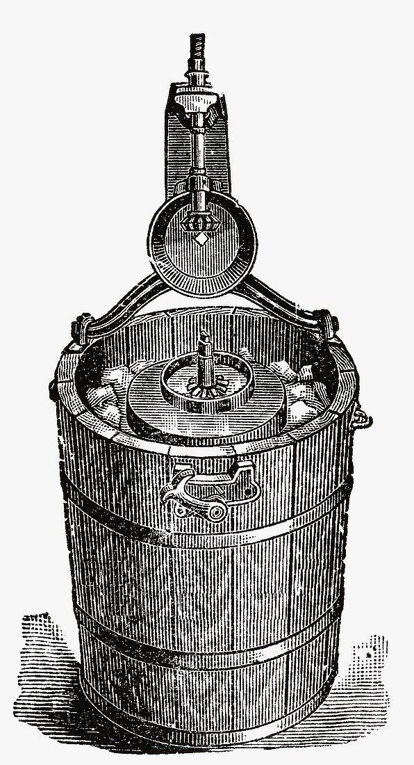 Old ice cream maker (Illustration)