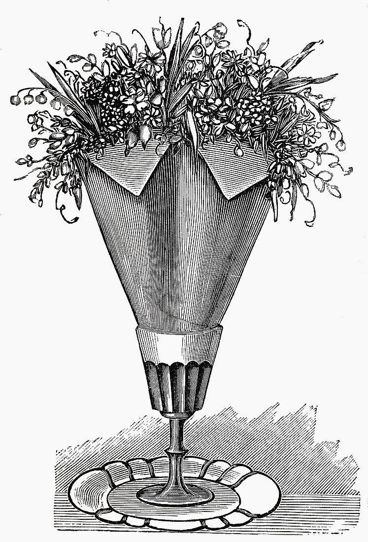 Napkin with flowers (Illustration)