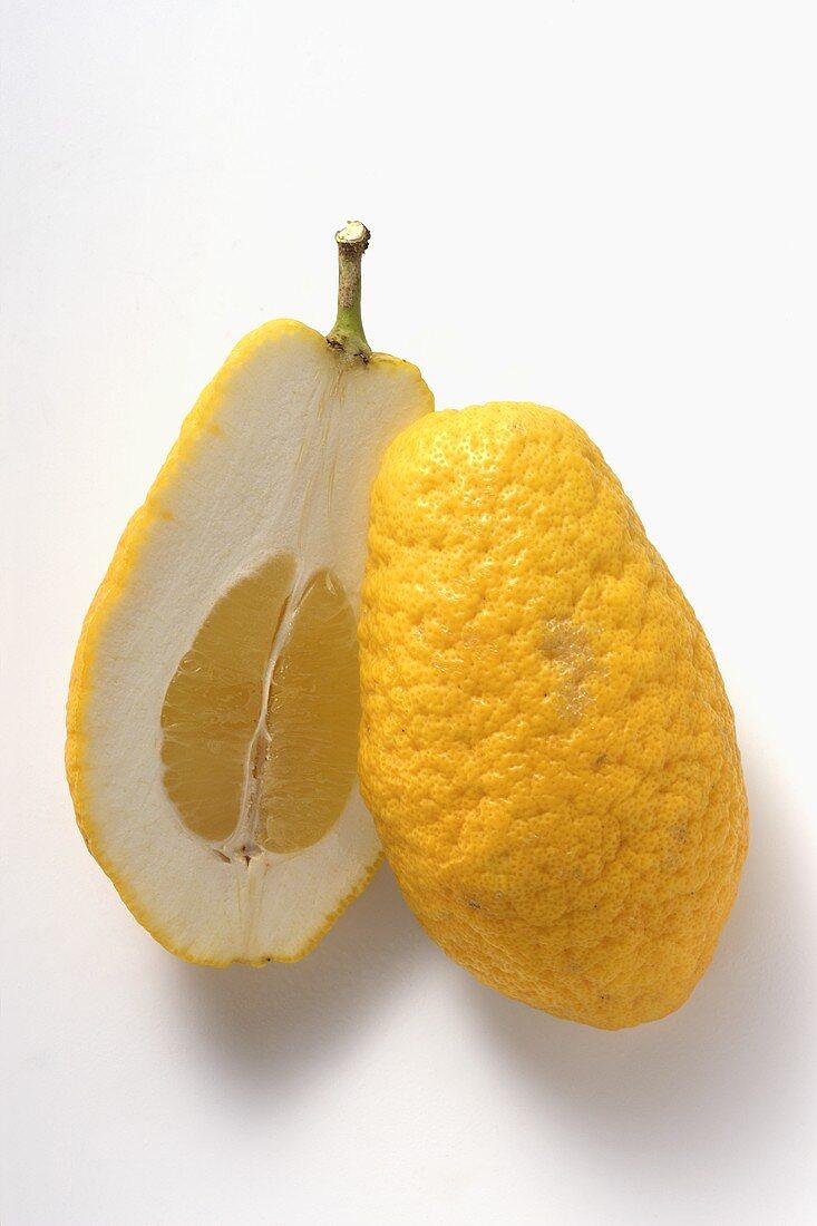 Citron, halved