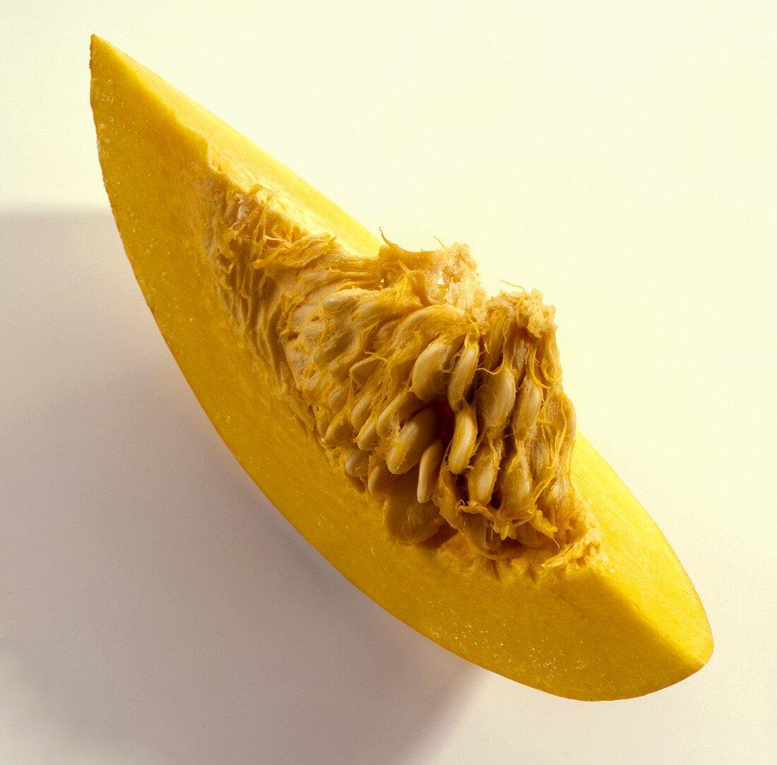 A wedge of pumpkin