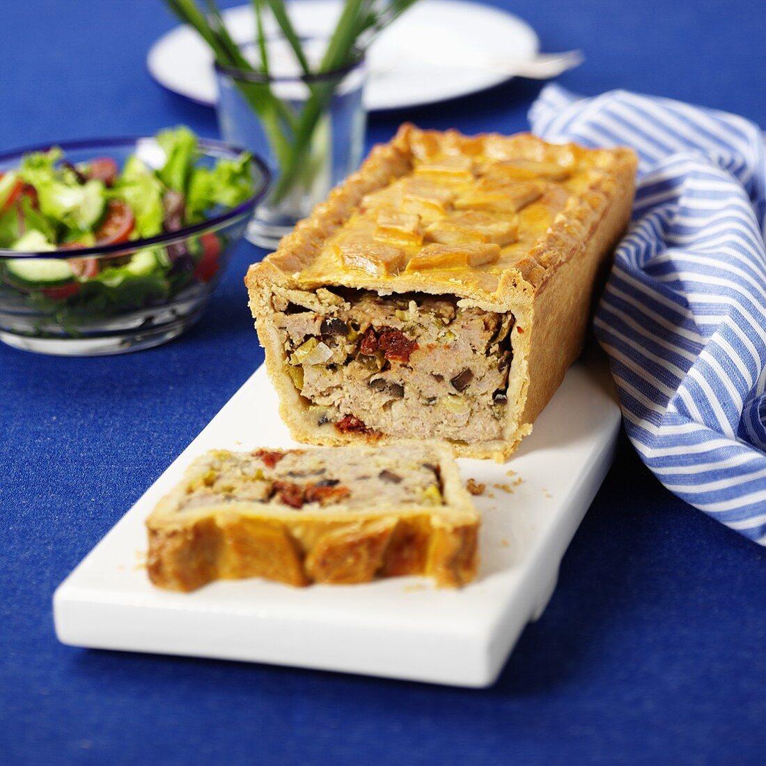 Pork pie with pesto