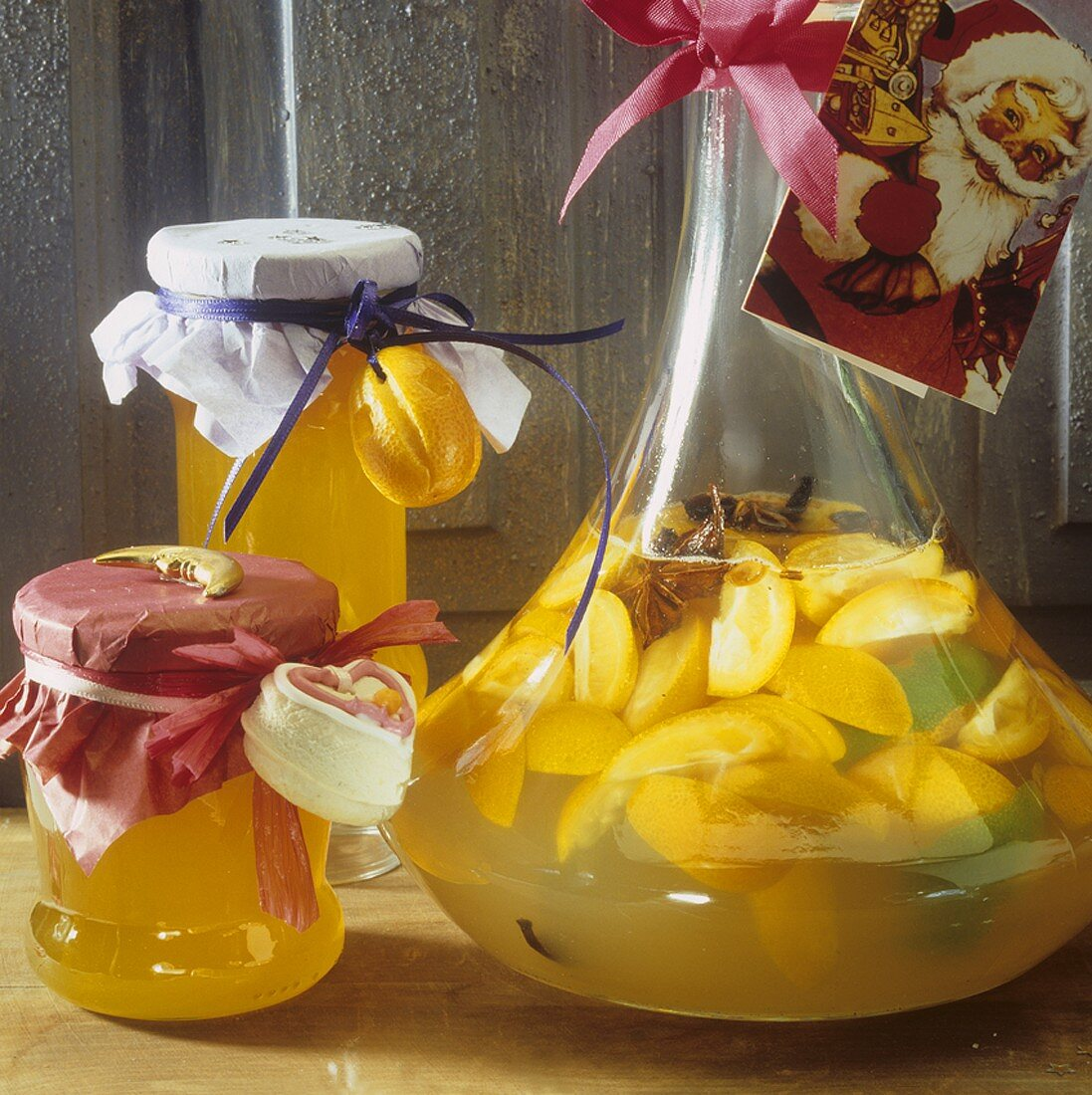 Orange jelly & kumquat liqueur to give as Christmas gifts