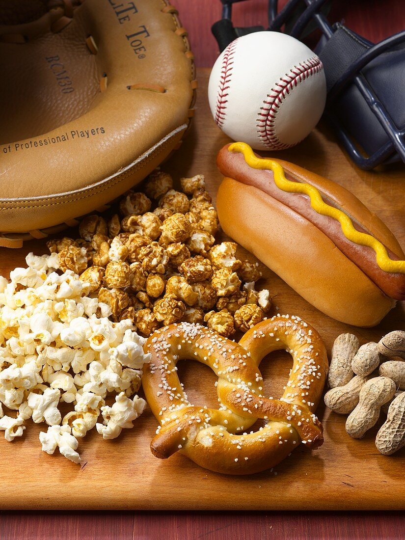 Baseball Game Foods