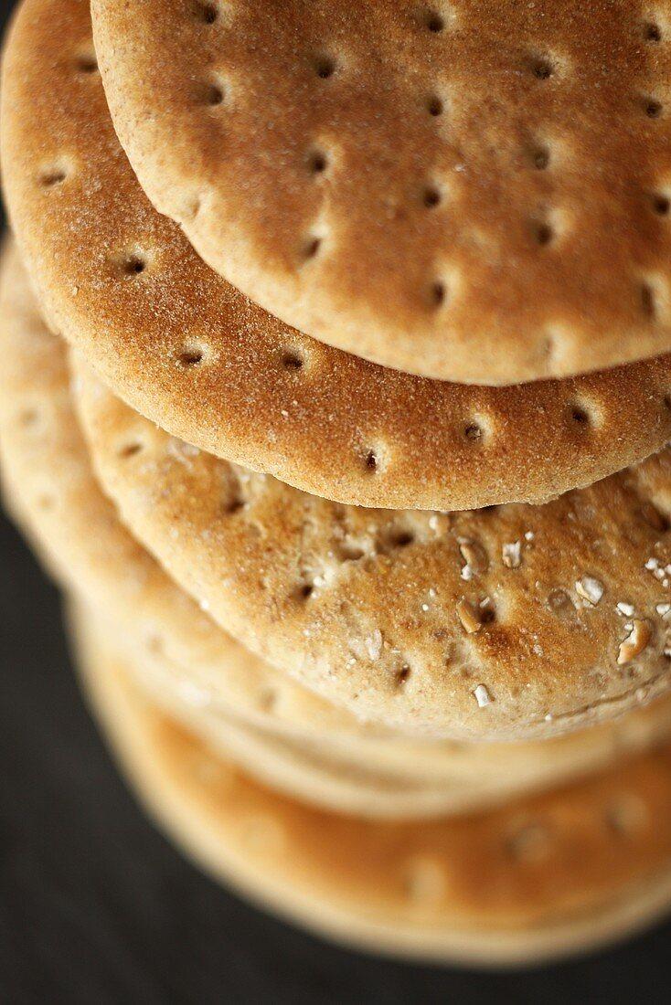 Stacked Whole Wheat Pita Breads