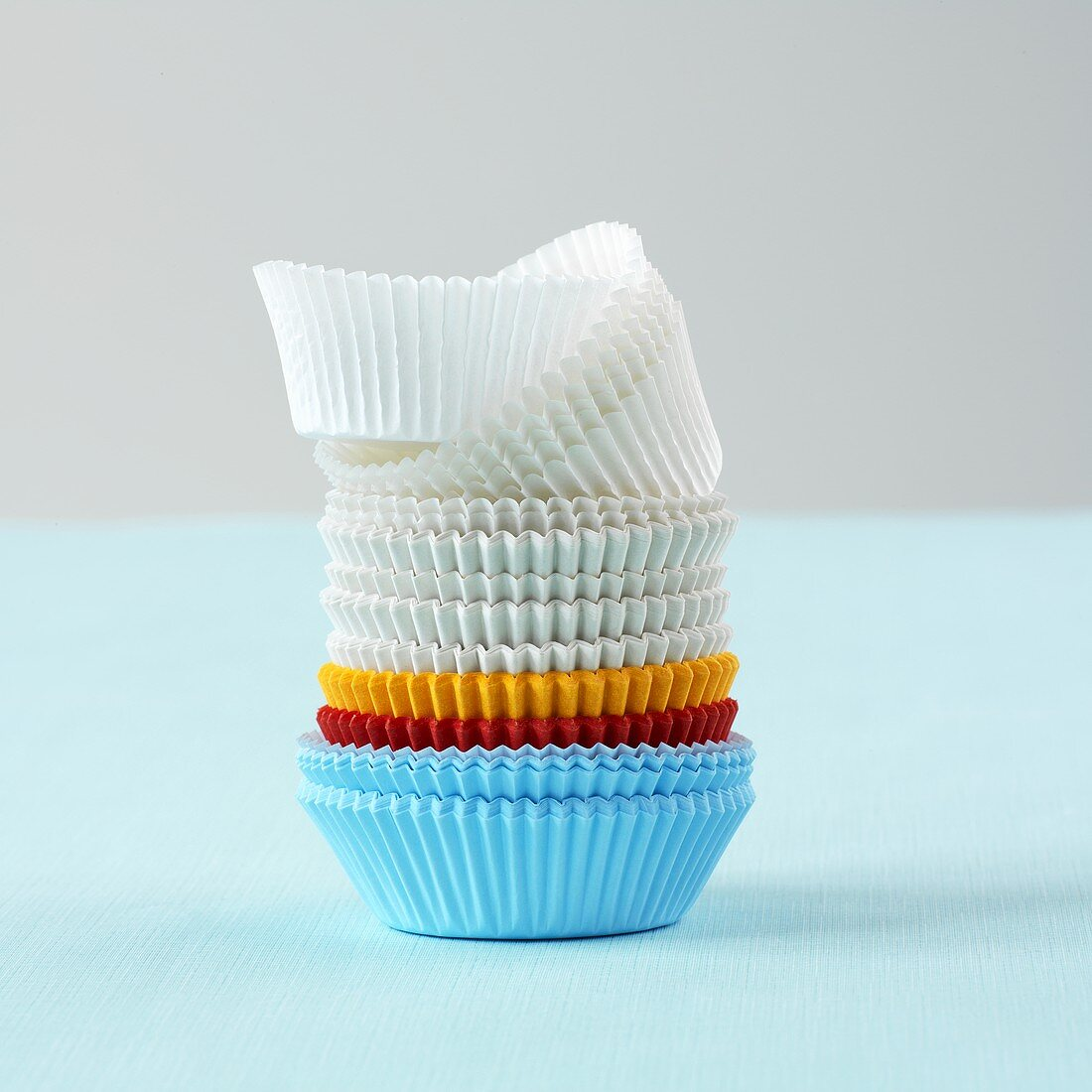 Paper baking cups in a variety of colors
