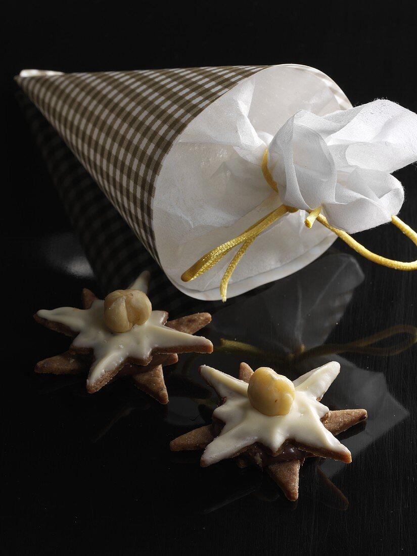 Nougat stars for gift giving