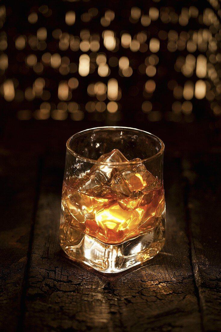 Glass of Scotch on Ice
