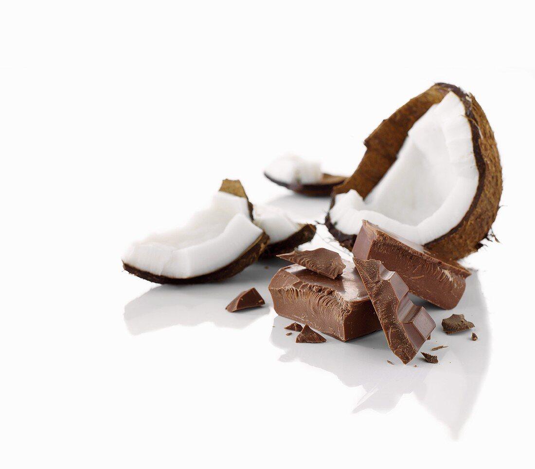 Coconut and chocolate chunks
