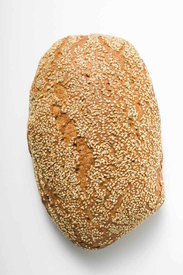 Whole loaf of sesame bread