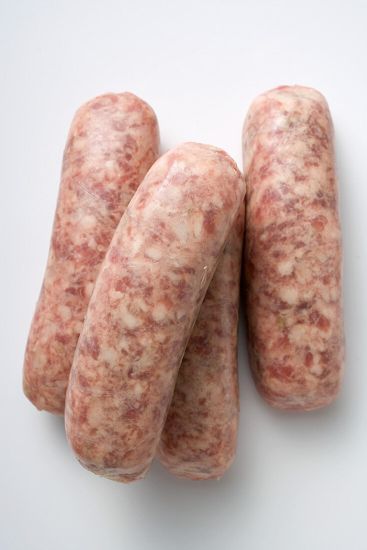 Four Nuremberg sausages
