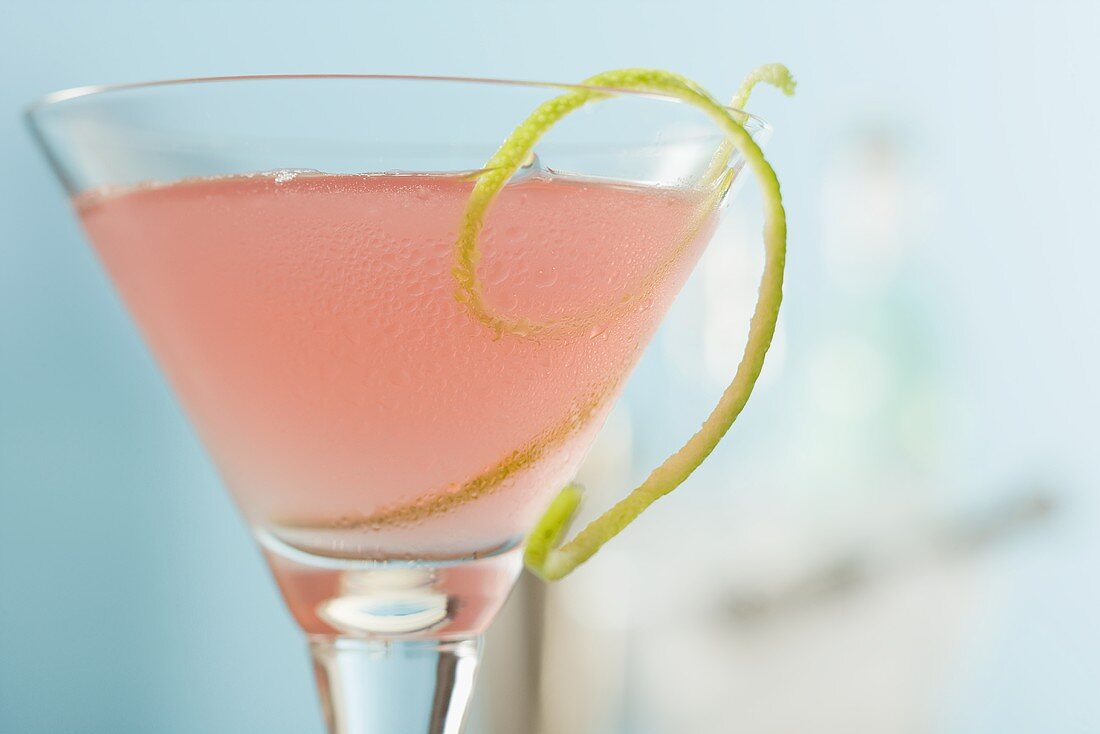 Cosmopolitan with lime zest