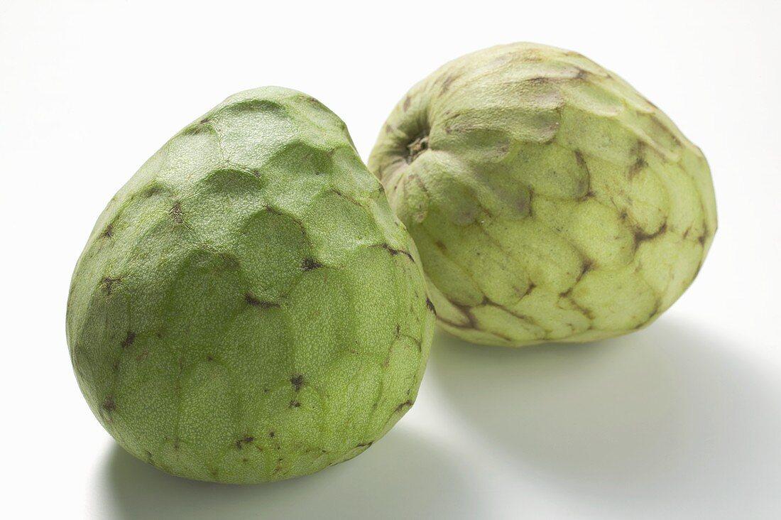 Two cherimoyas