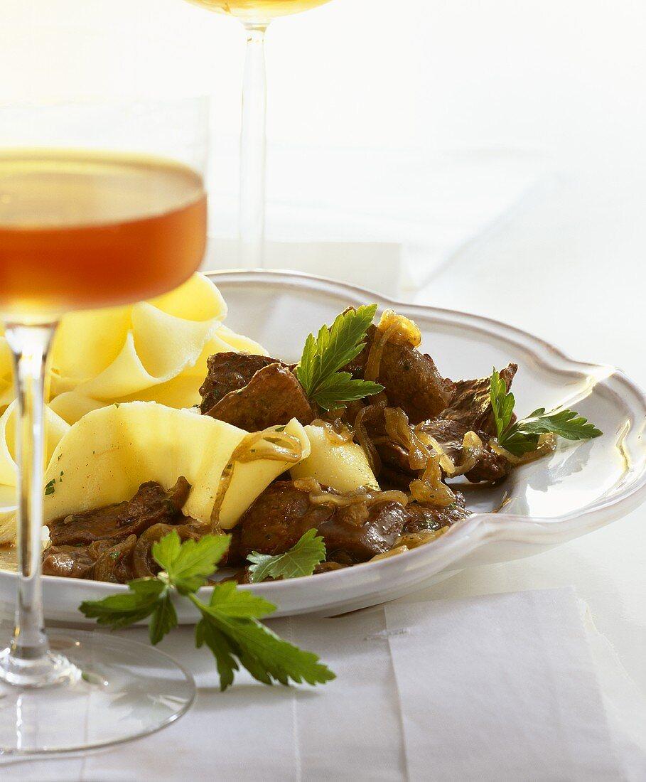 Calf's liver, Venetian style