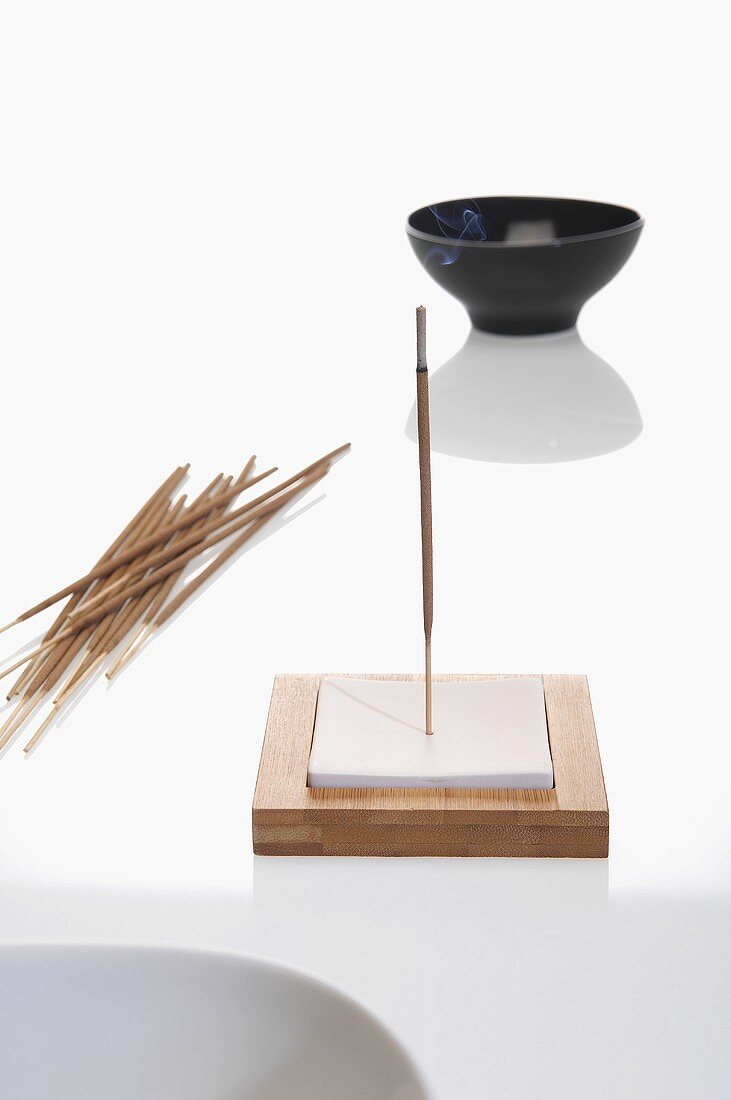 Incense stickes and bowl
