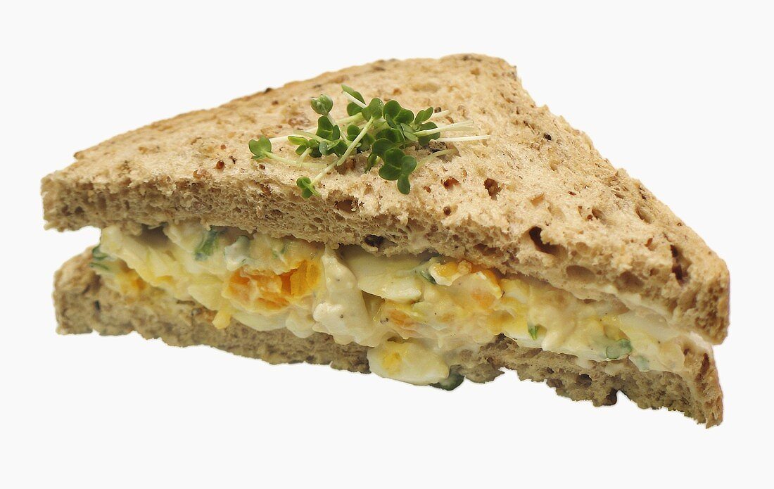 Egg sandwich with cress