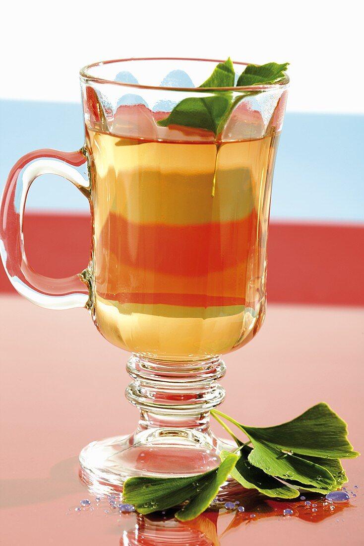 Ginkgo tea in a glass