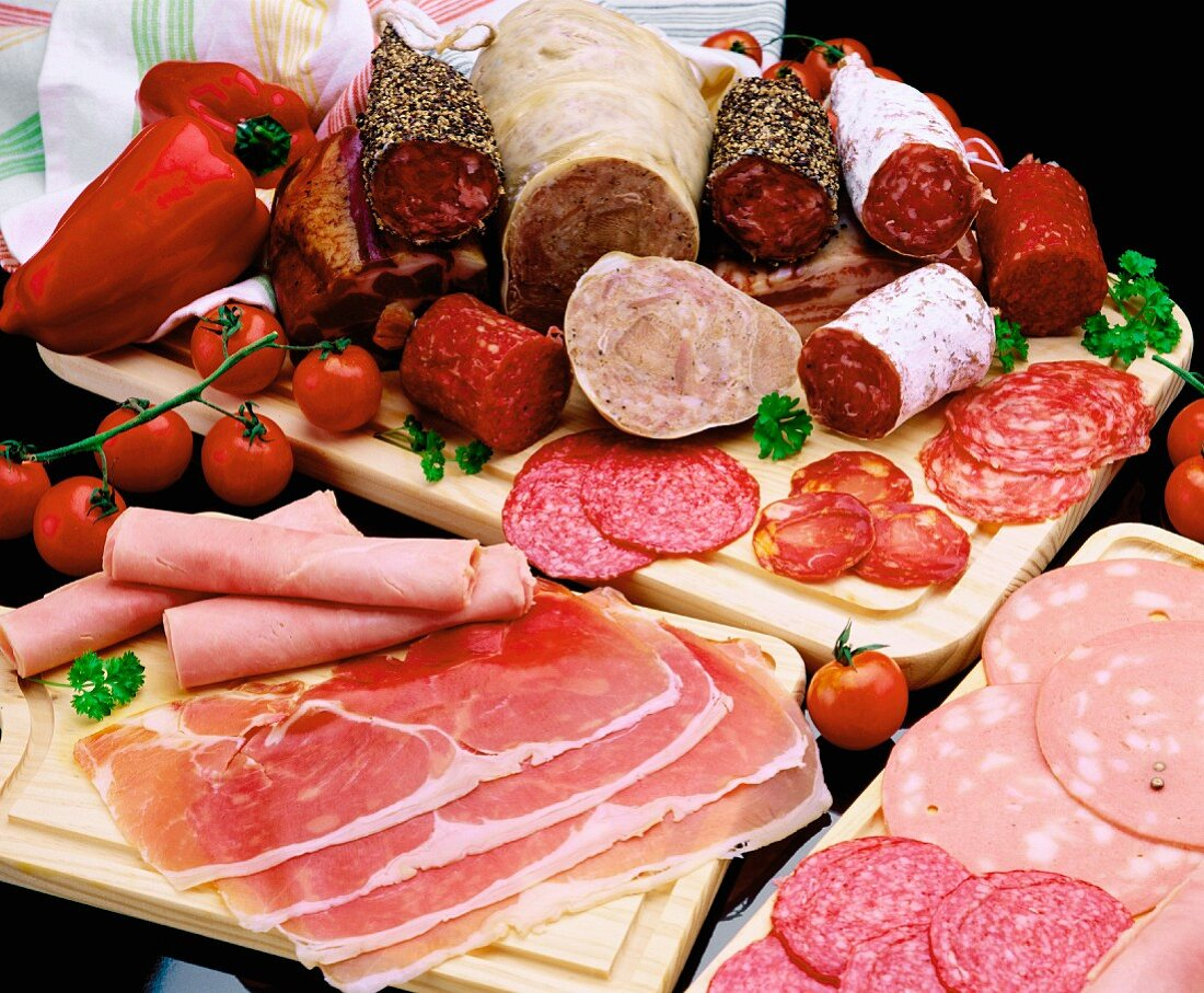 Platter of cold cuts
