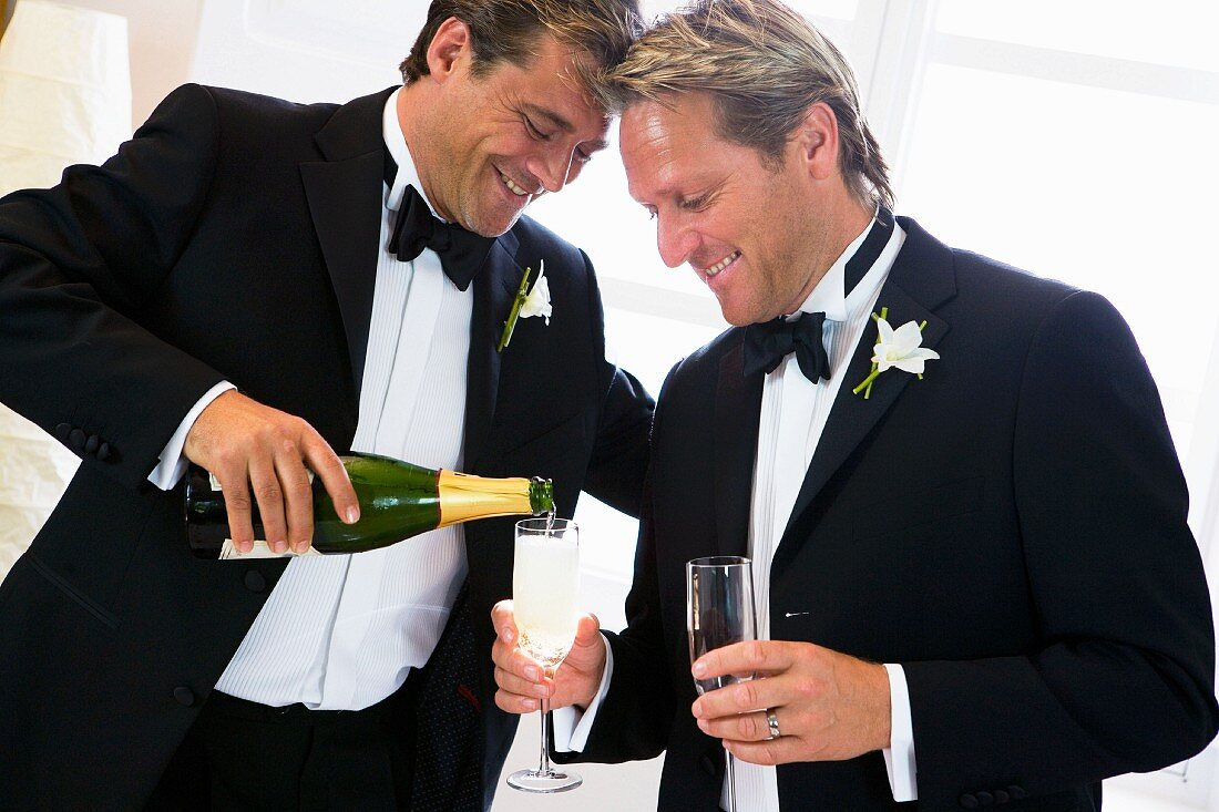 Same-sex married couple at wedding