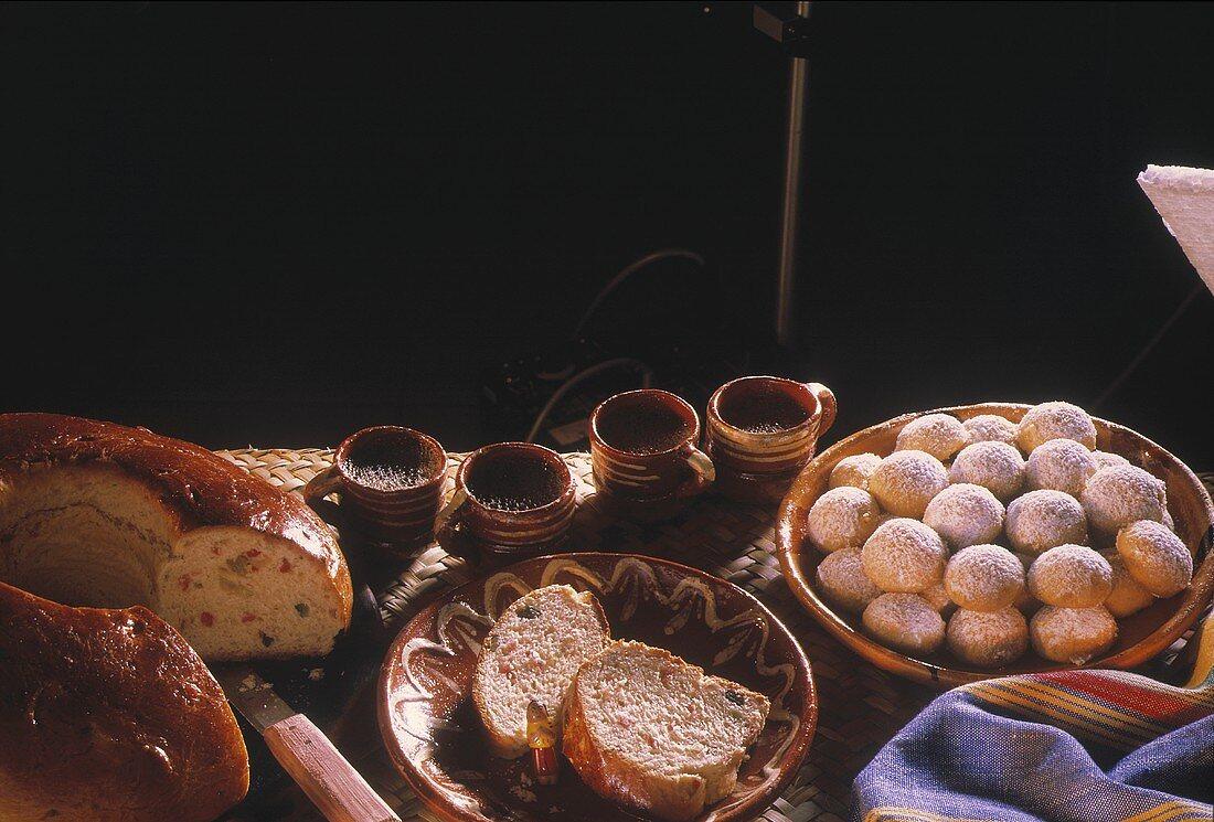 Yeast Wreath & Almond Cookies