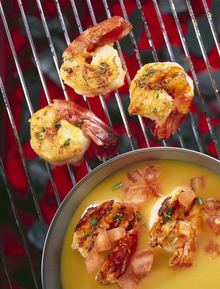 Grilled prawn masala