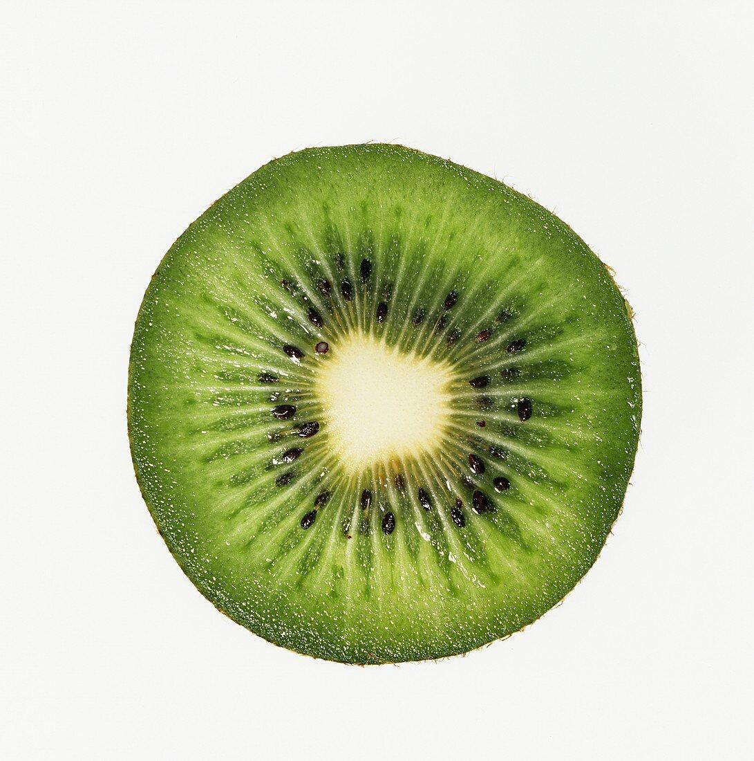 Kiwi Slice on White Background