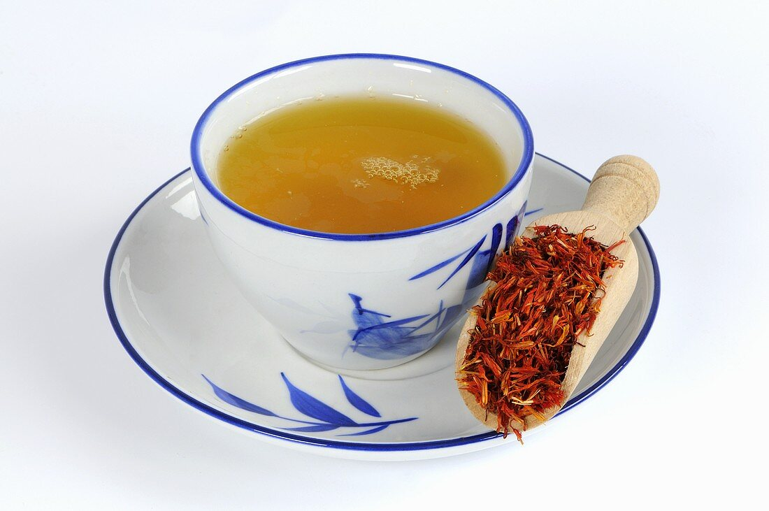 Safflower petal tea