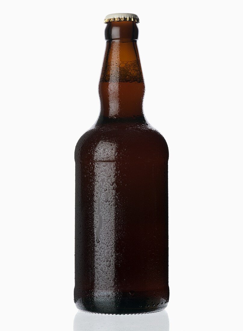 A chilled bottle of beer (ale)