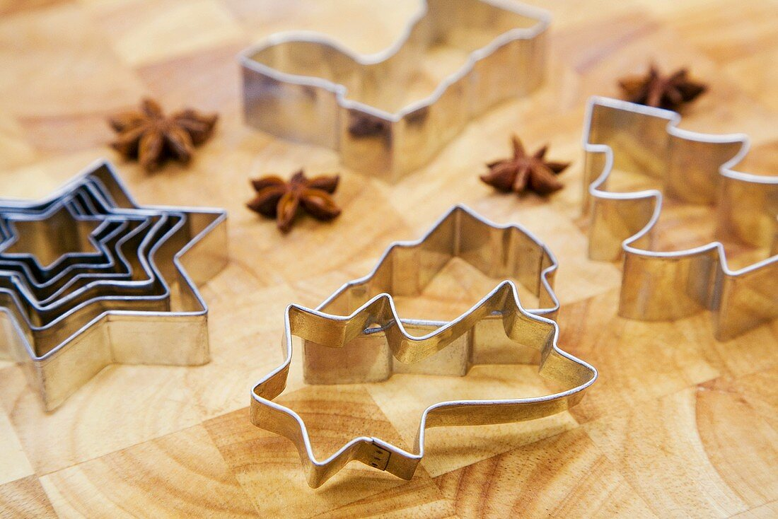 Cookie cutters and star-anise