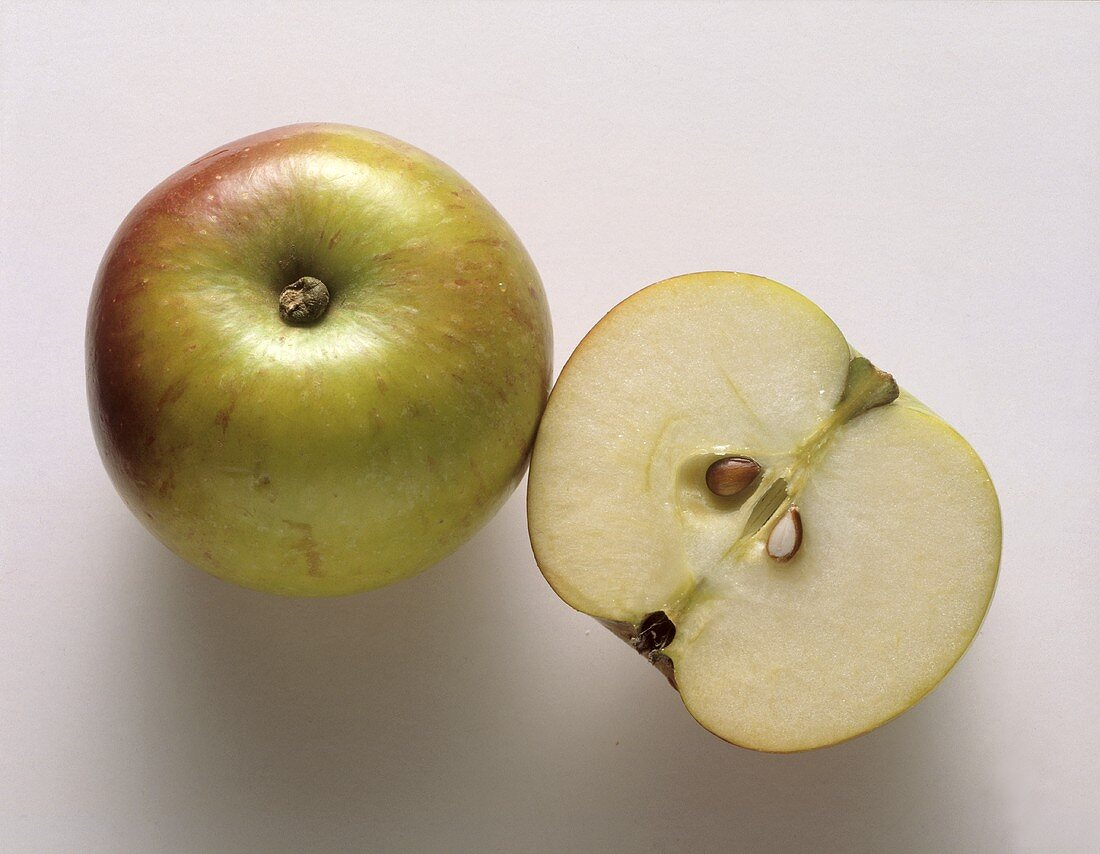 One whole apple and a half apple.