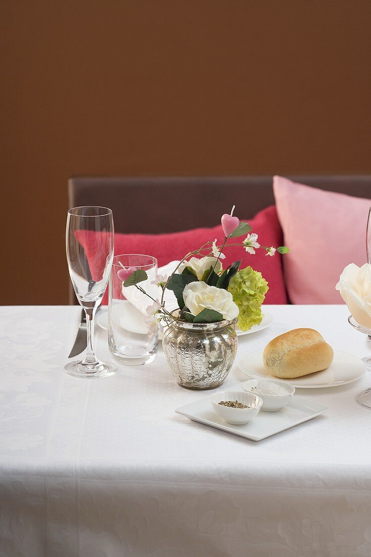 Place-setting for a romantic dinner
