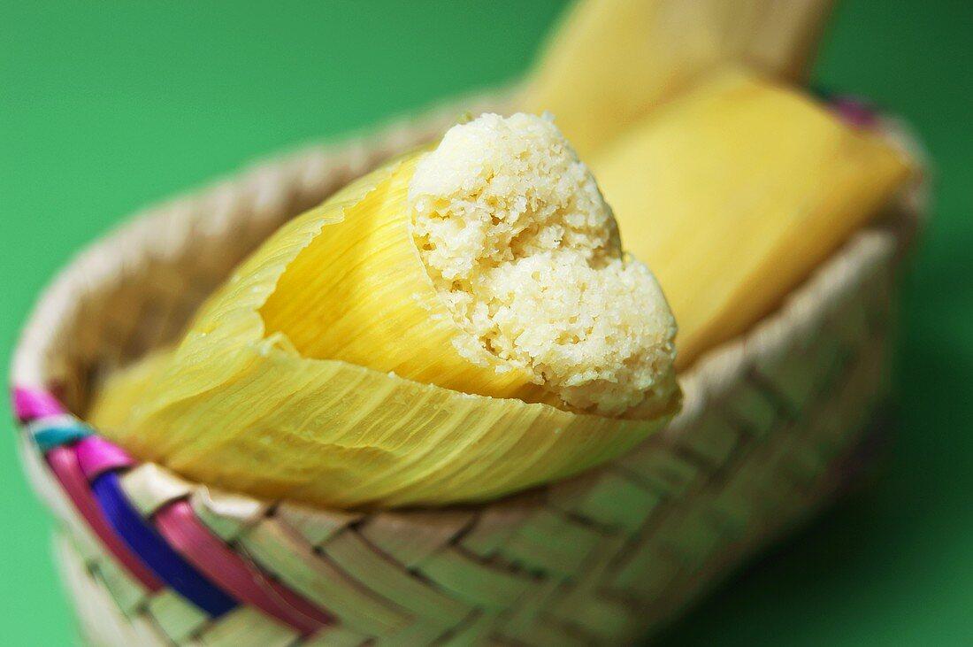 Tamales (Stuffed maize leaves, South America)