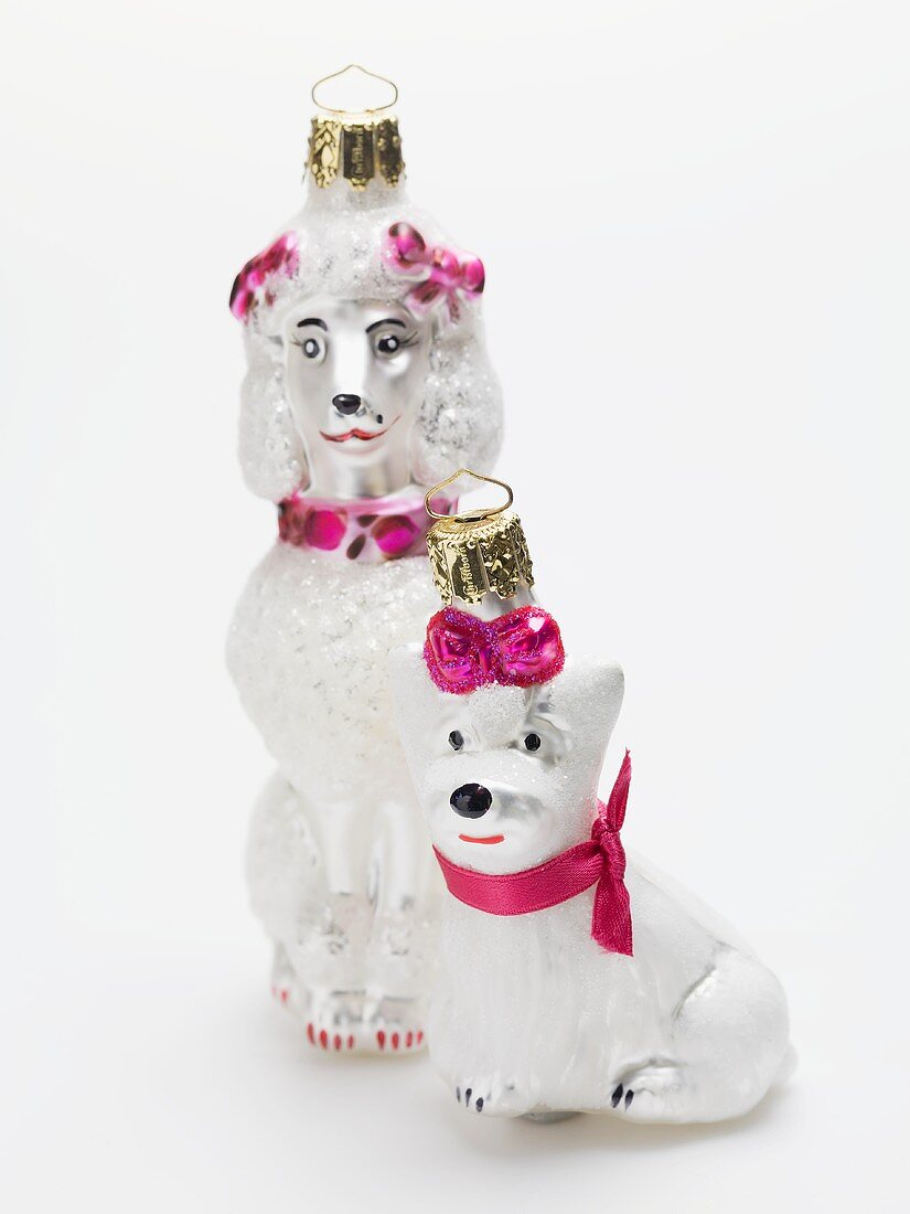 Christmas tree ornaments (dogs)