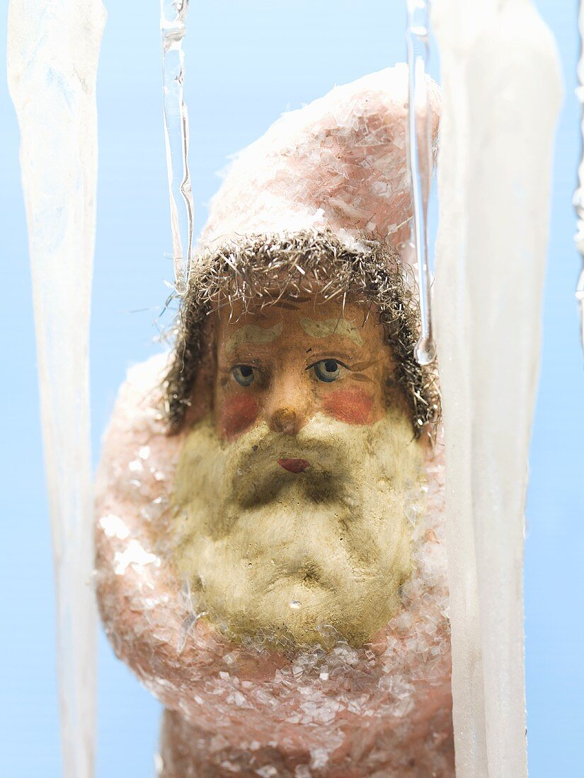 Father Christmas and icicles