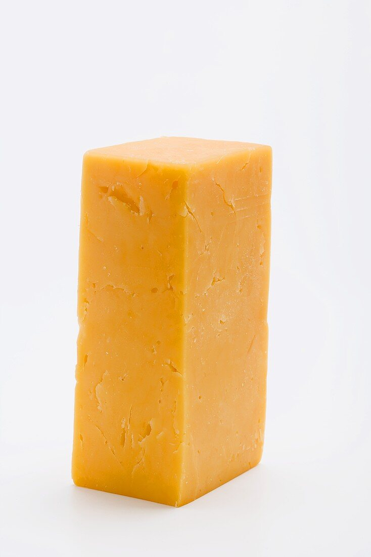 A piece of Cheddar cheese