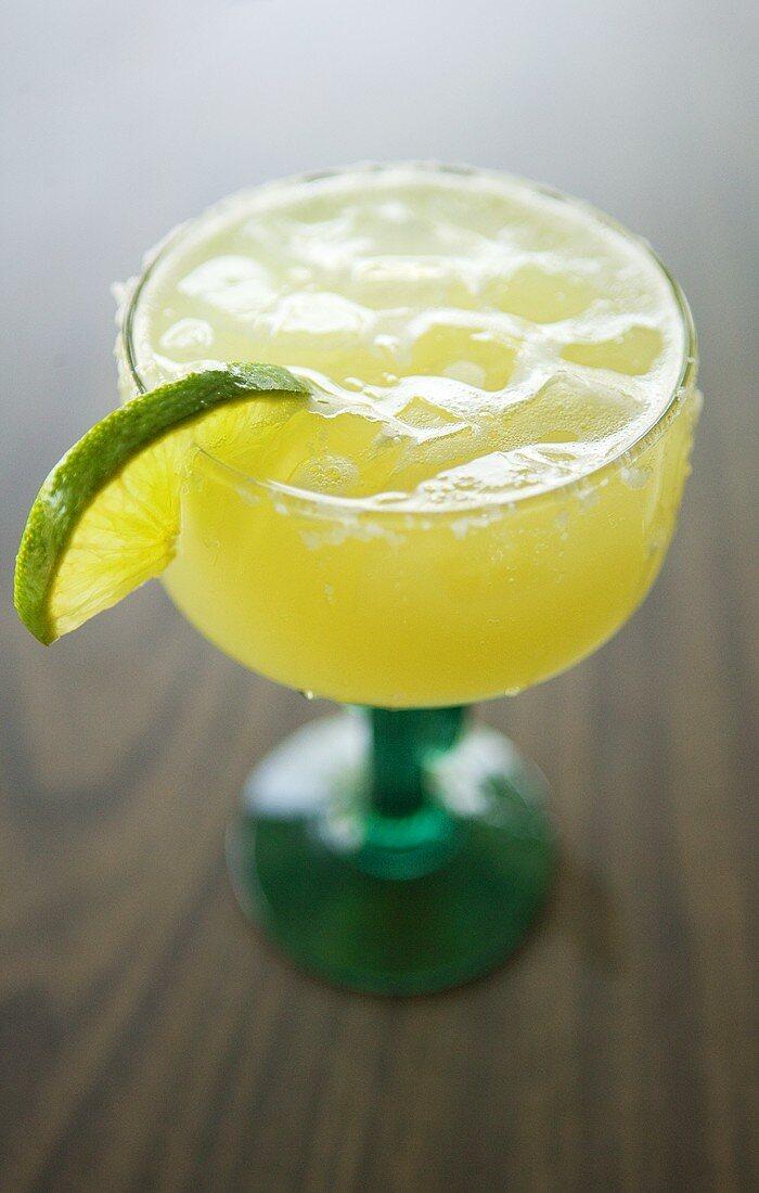 Margarita on the Rocks in Cactus Glass