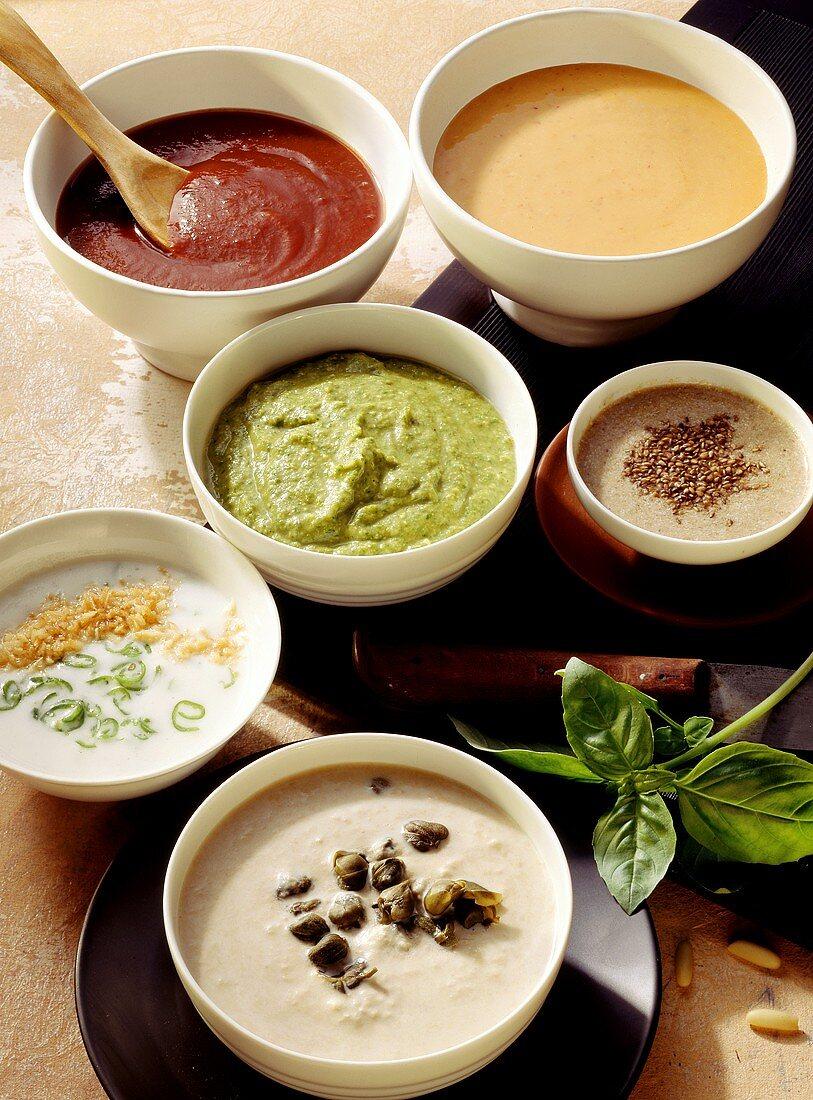 Six creamy dips for meat fondue