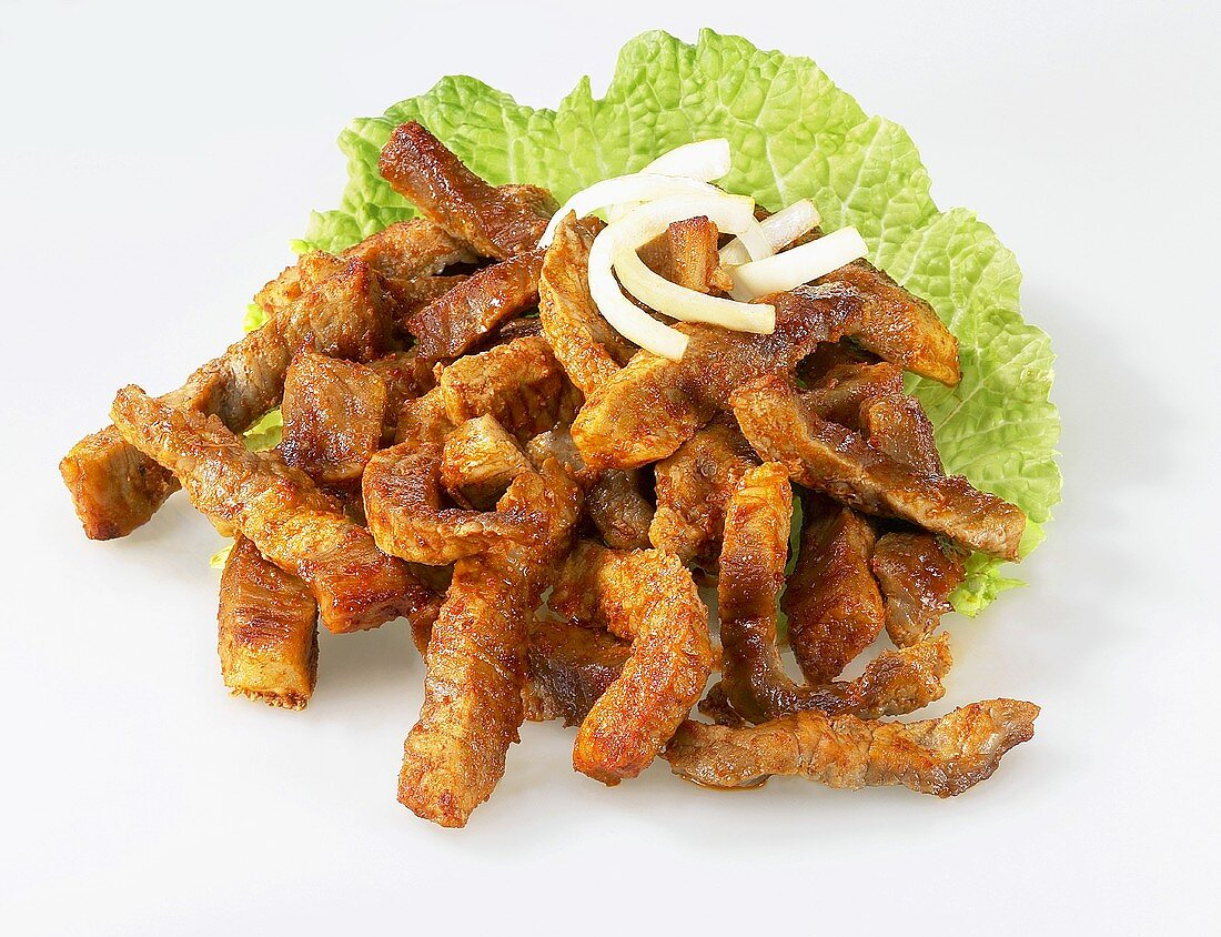 Gyros with onions