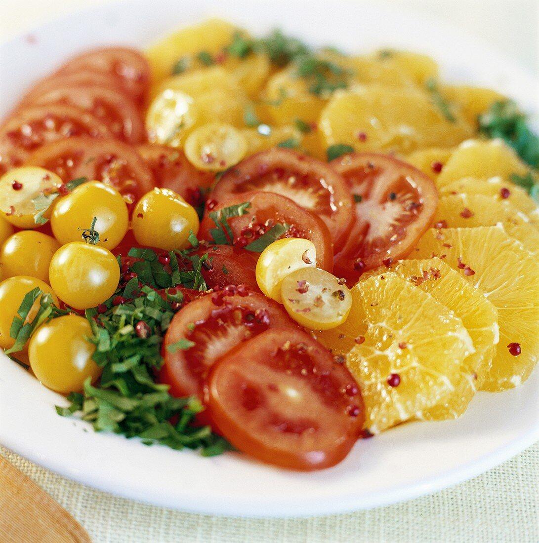 Tomato and orange salad
