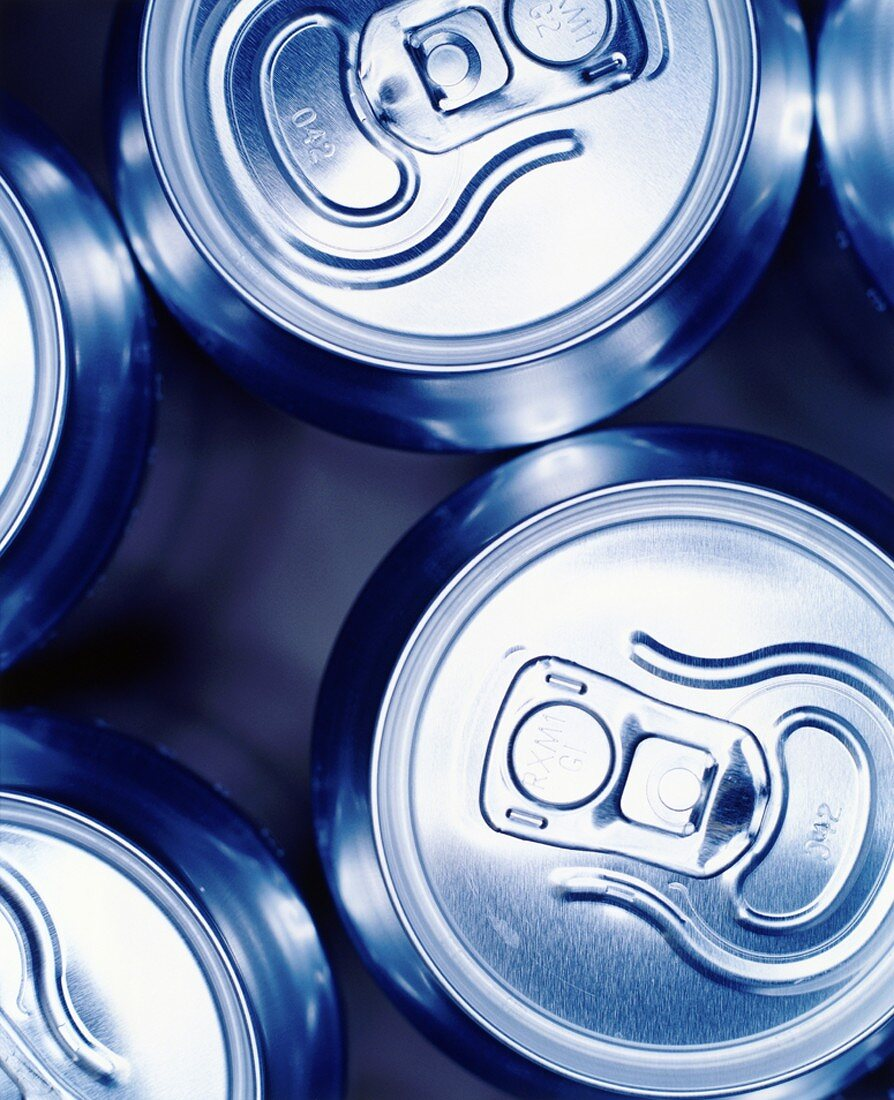 Drink cans from above