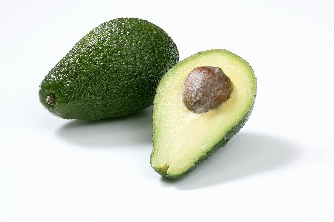 Avocado and half an avocado