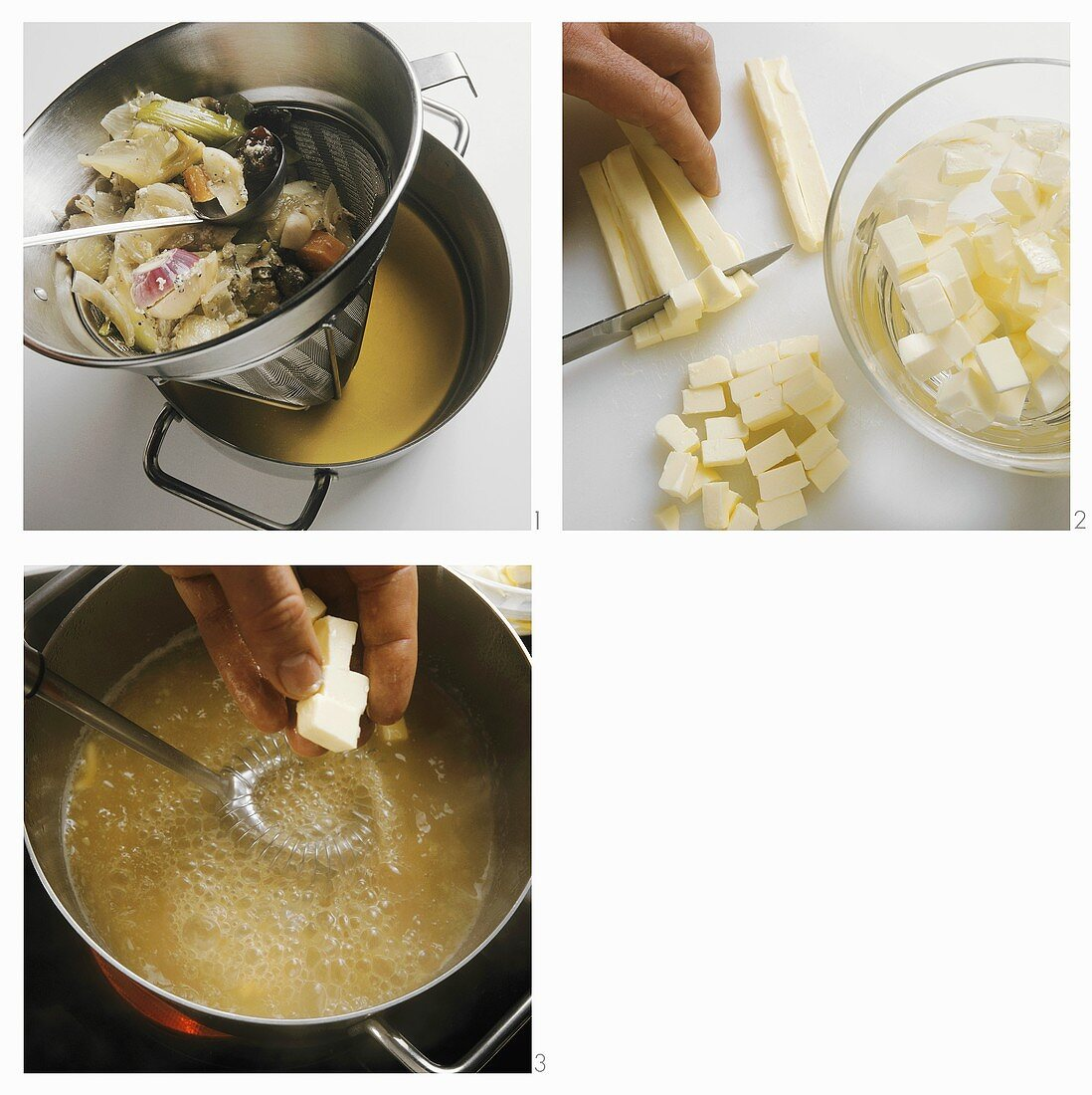 Making a sauce with butter flakes
