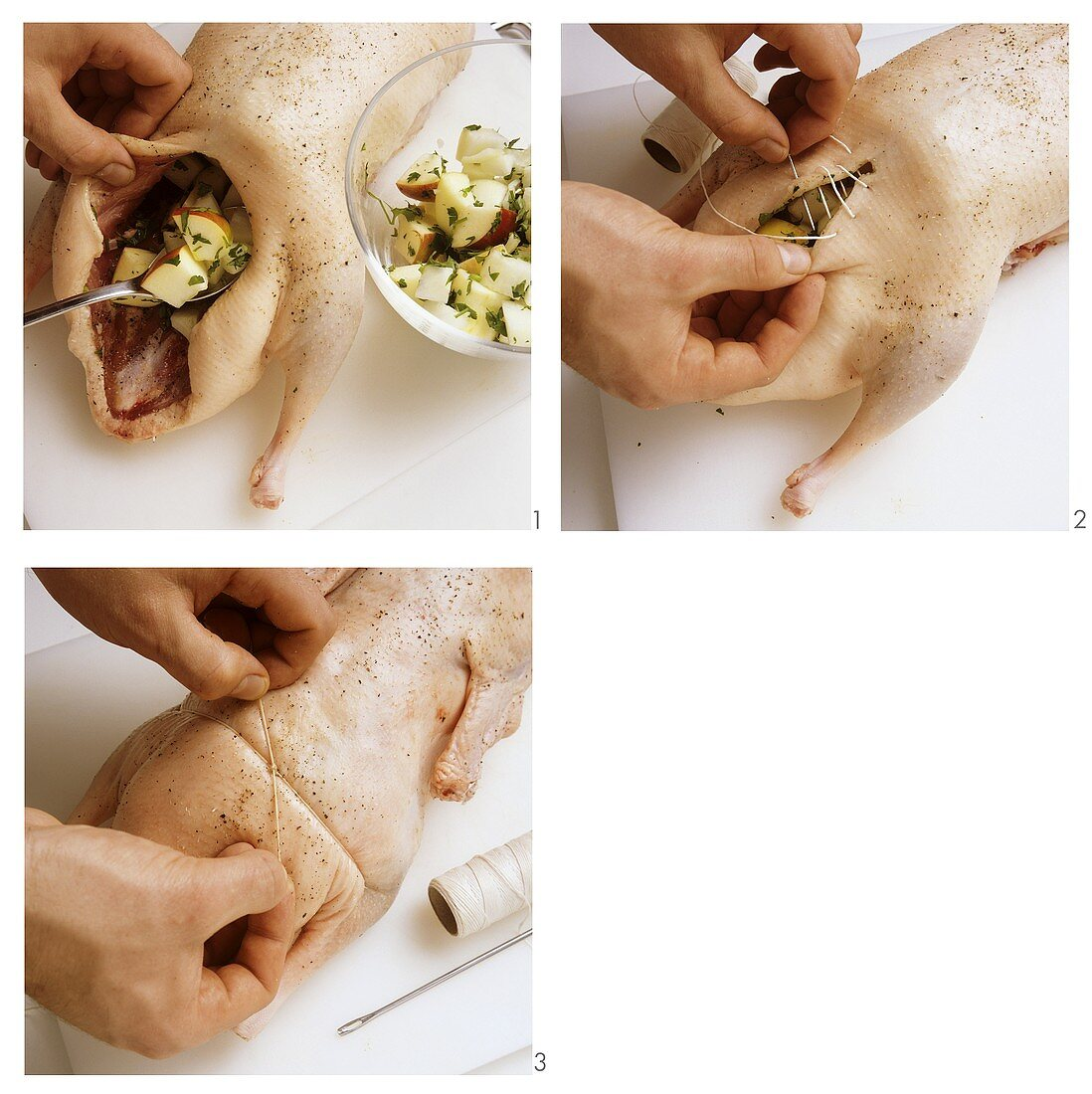 Stuffing duck or goose