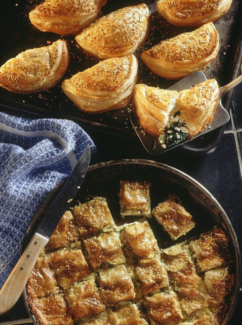 Cretan pasties & courgette pie