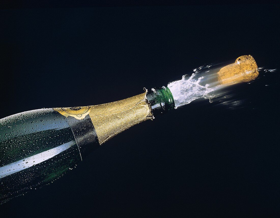 Uncorking a Champagne Bottle