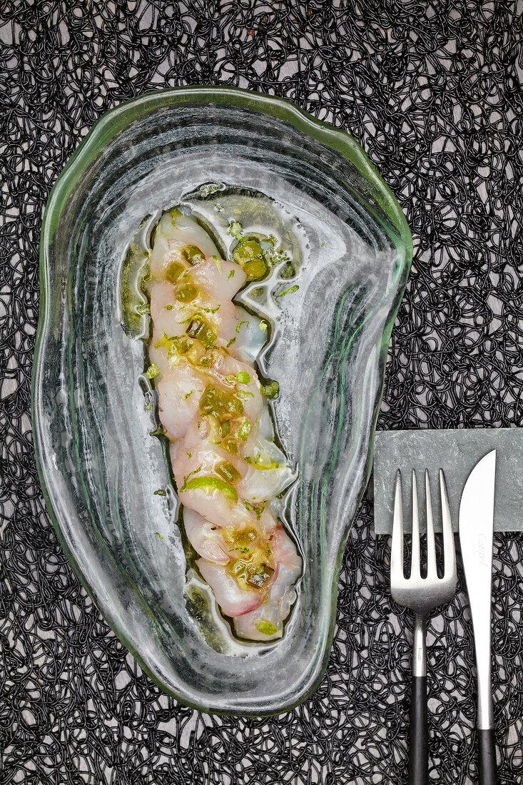 Sargo sashimi, Galicia, Spain
