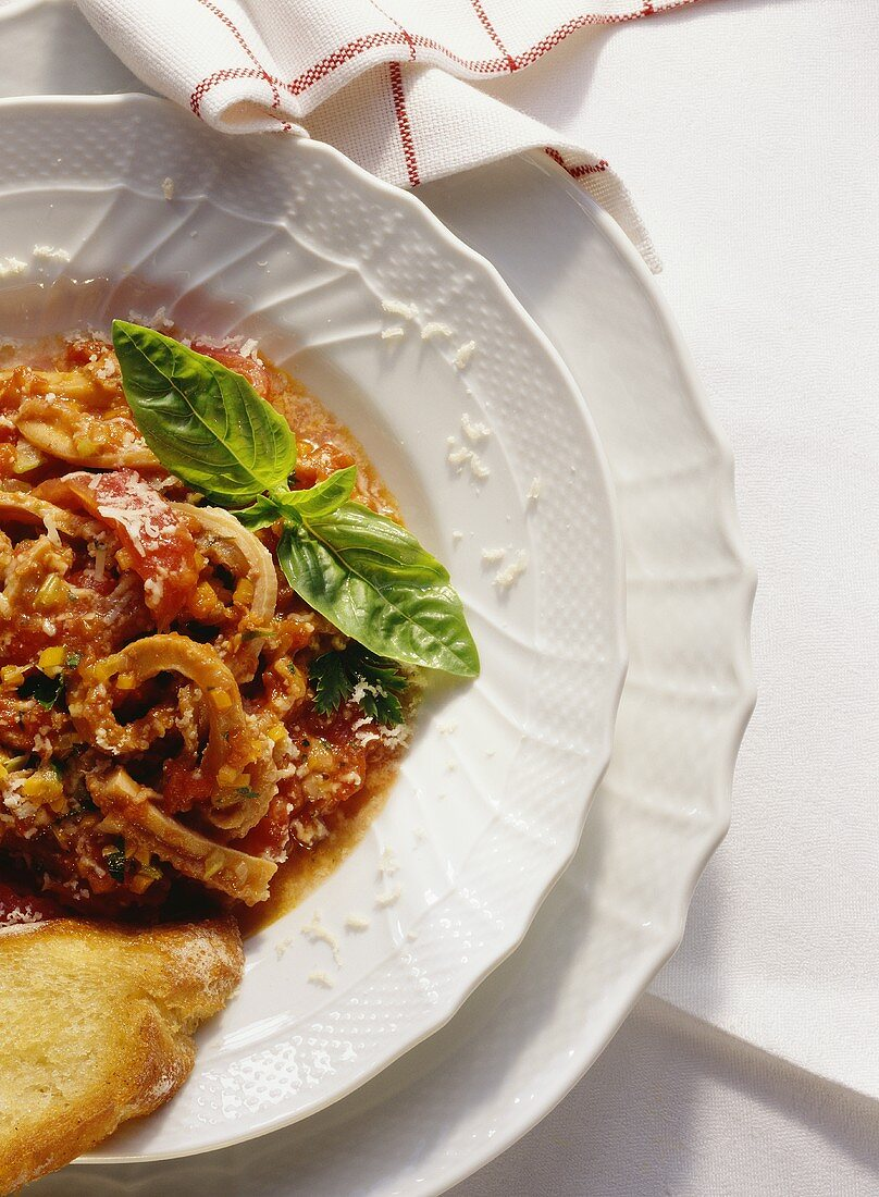 Tripe in tomato and herb sugo (Italy)